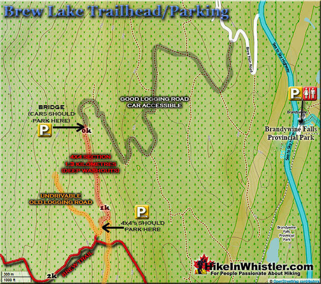 Brew Lake Trailhead Map