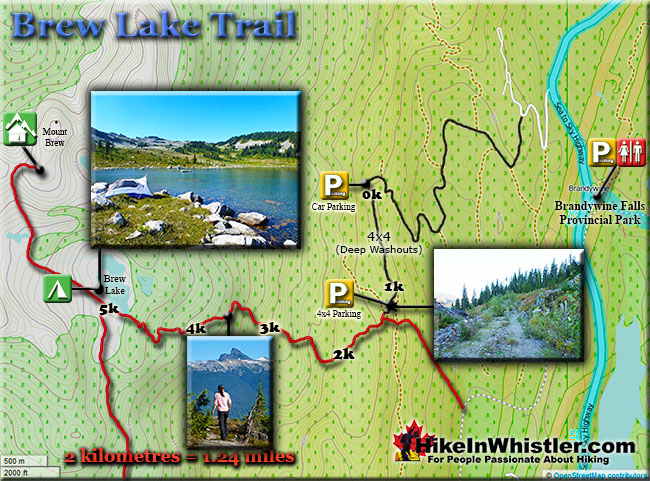 Brew Lake Trail Map
