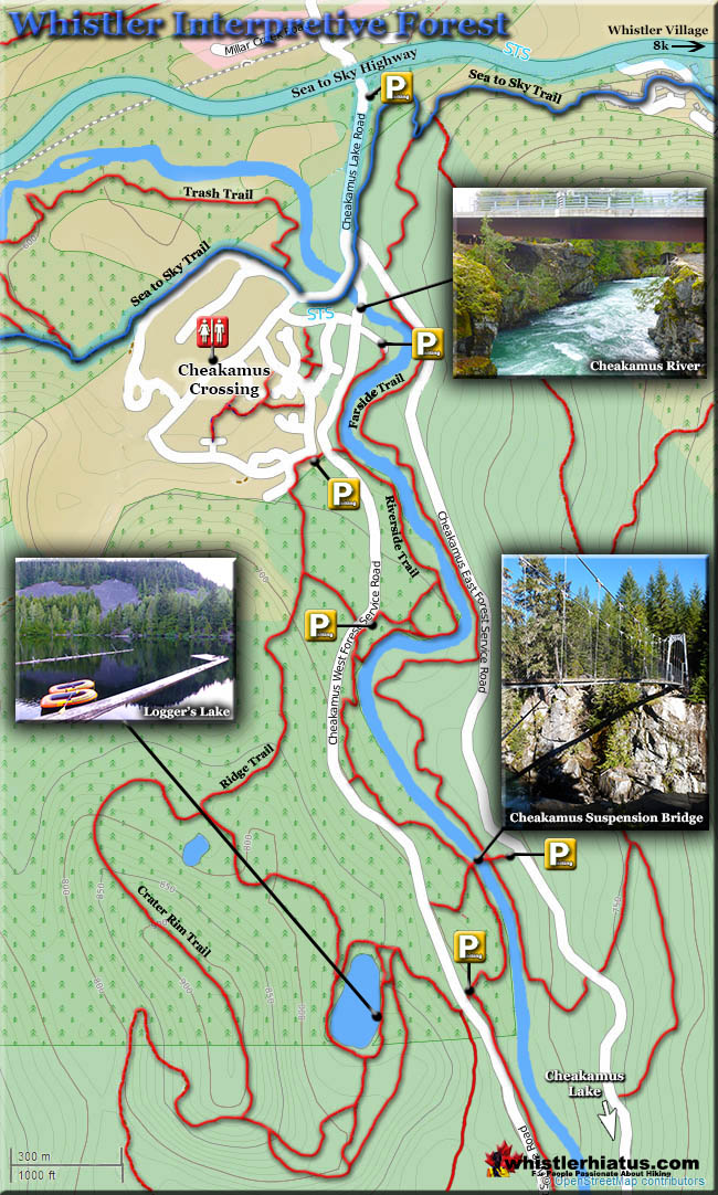 Cheakamus River Interpretive Forest Trail Map Jpg