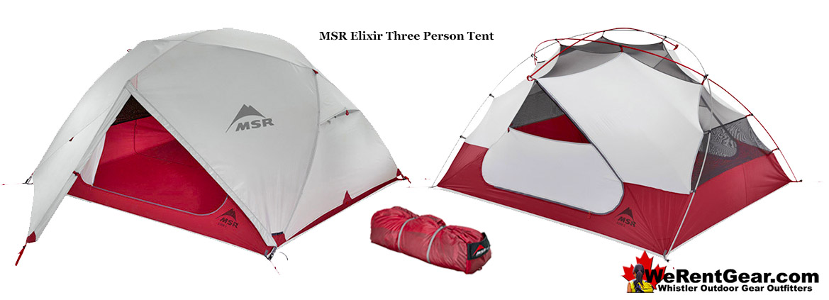 MSR Elixir 3 Person Tent Rental