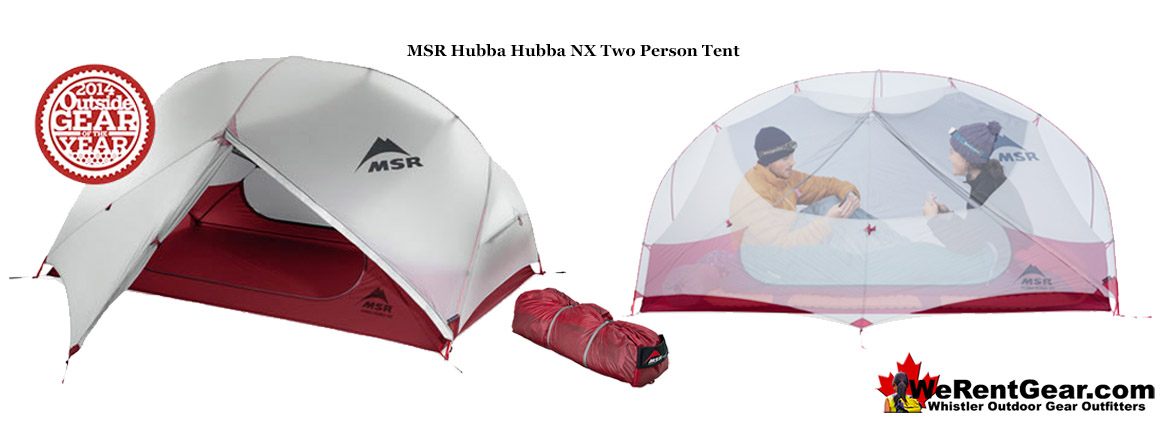 We Rent MSR Hubba Hubba Tents