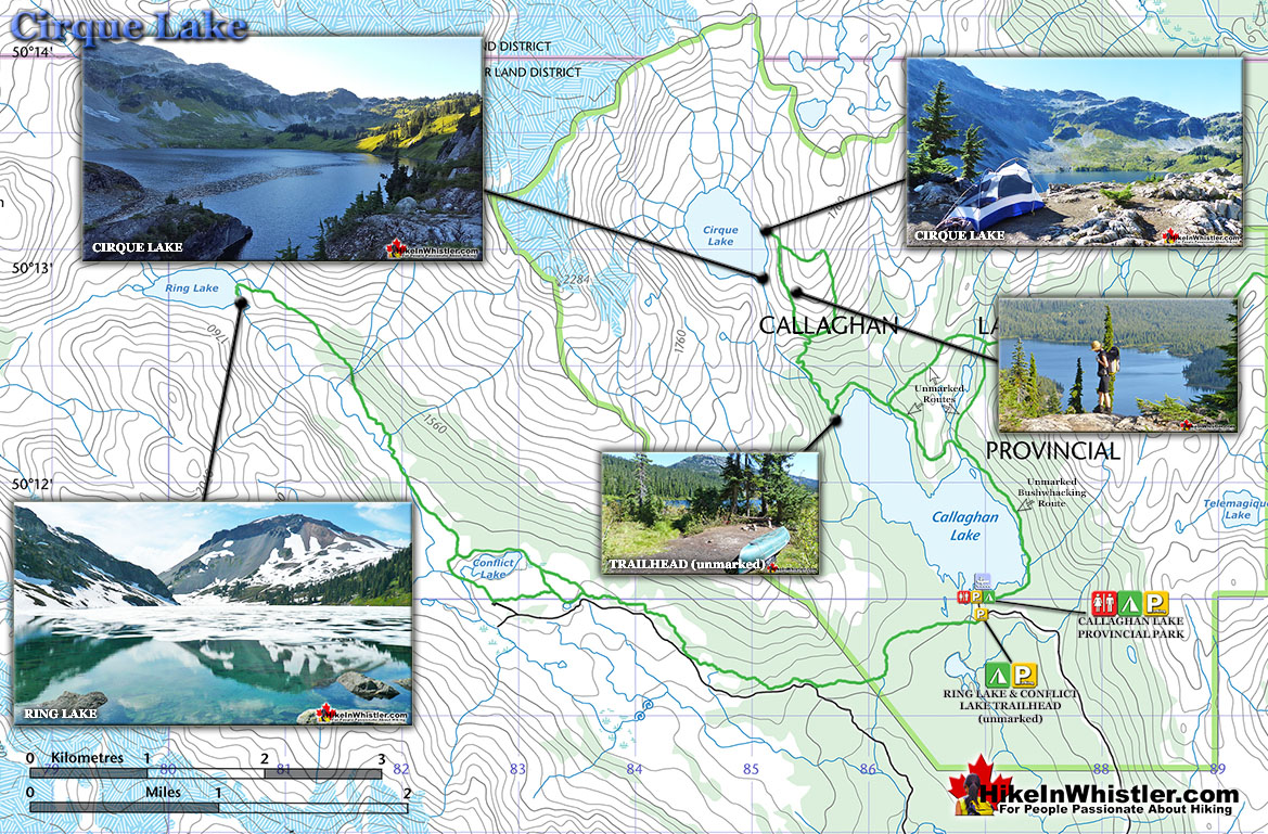 Cirque Lake Trail Map