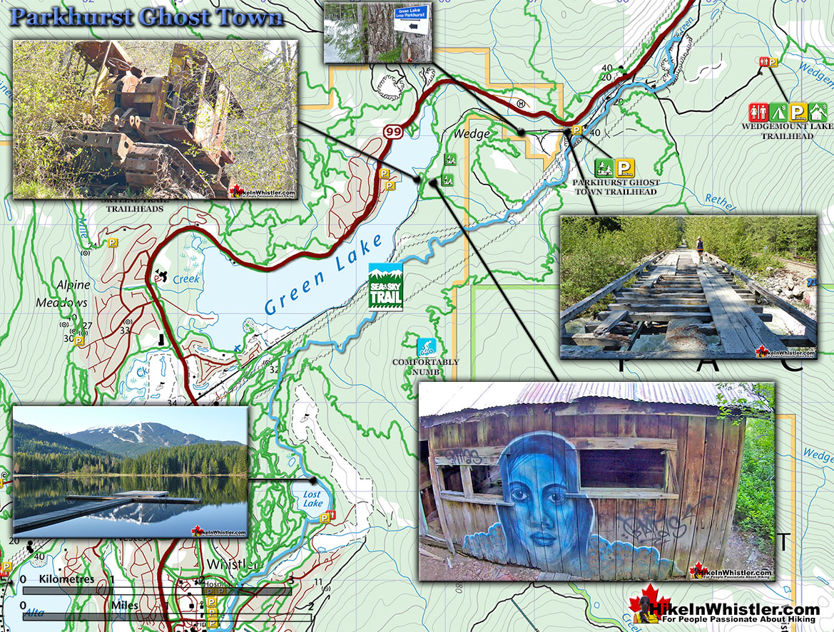 Parkhurst Ghost Town Map