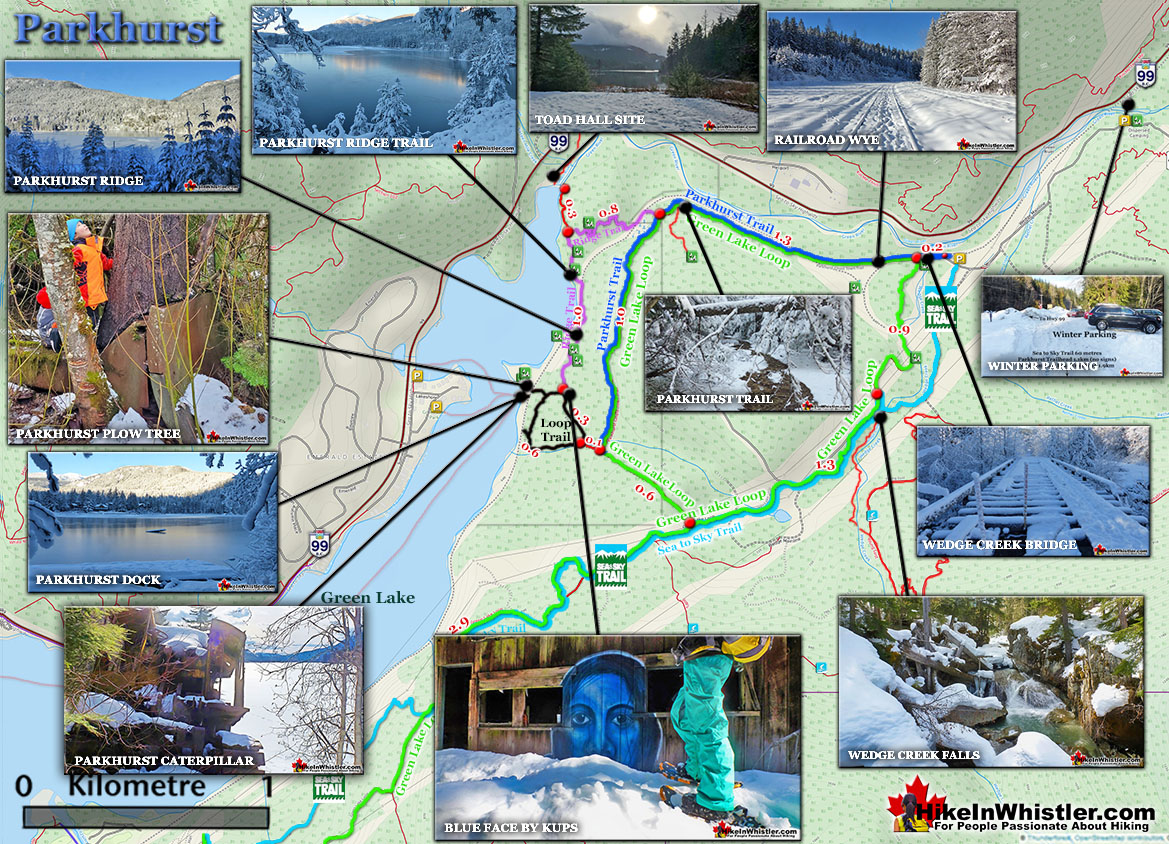Parkhurst Ghost Town Snowshoe Map