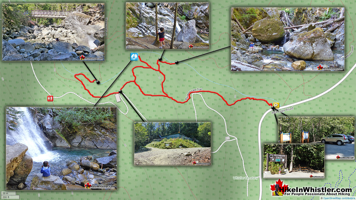 Rainbow Falls Hiking Map
