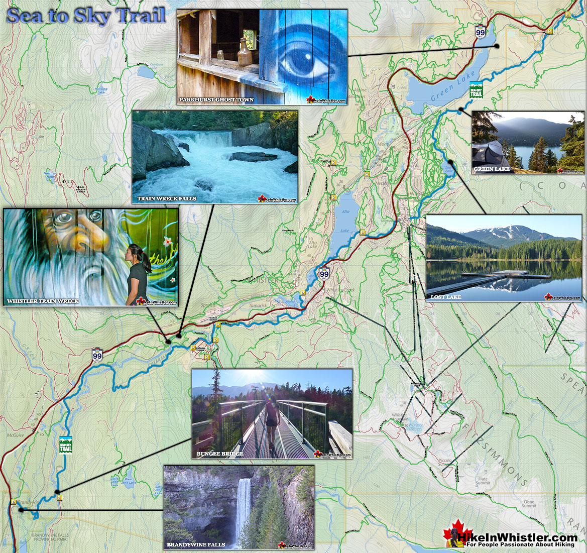 Sea to Sky Trail Map